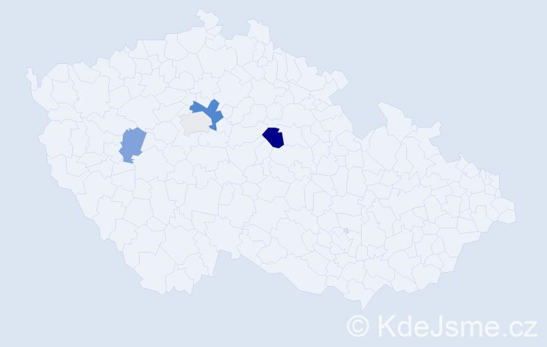 Příjmení: 'Capalini', počet výskytů 7 v celé ČR