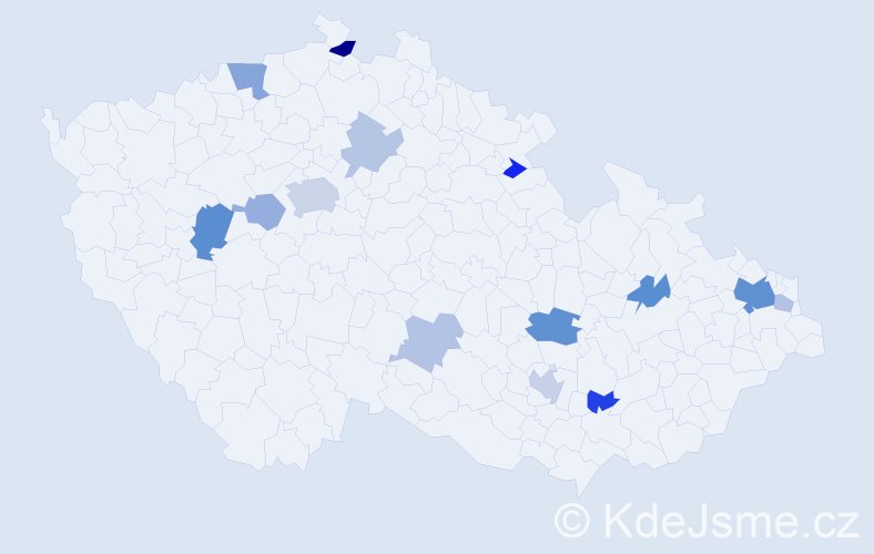 Příjmení: 'Gerboc', počet výskytů 30 v celé ČR