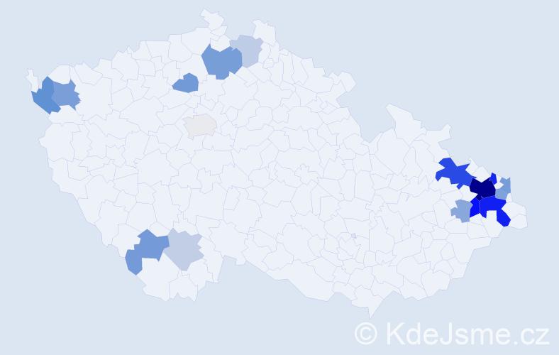 Příjmení: 'Lariš', počet výskytů 51 v celé ČR