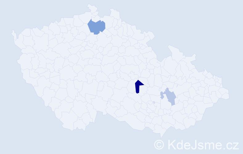 Příjmení: 'Iwachovová', počet výskytů 5 v celé ČR