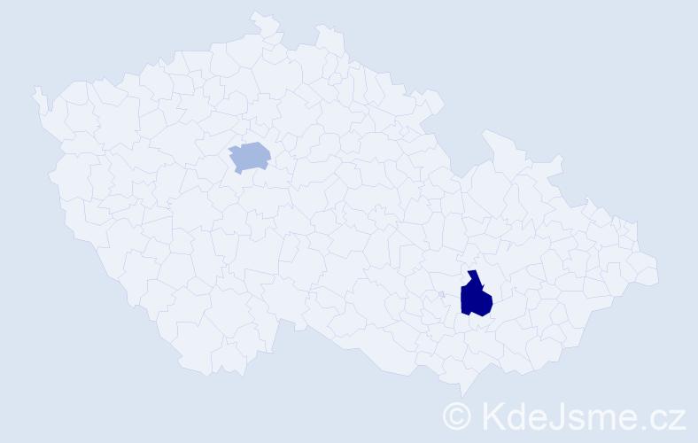 Příjmení: 'Jamai', počet výskytů 3 v celé ČR