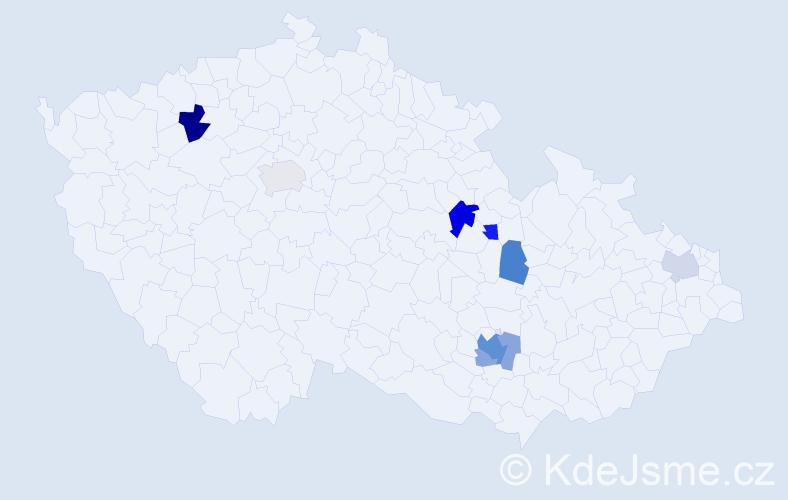 Příjmení: 'Kúkol', počet výskytů 16 v celé ČR