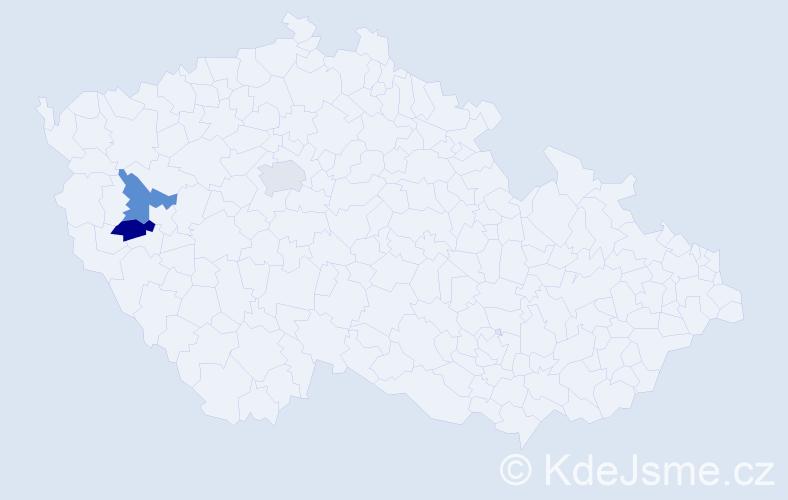 Příjmení: 'Irrlacherová', počet výskytů 3 v celé ČR