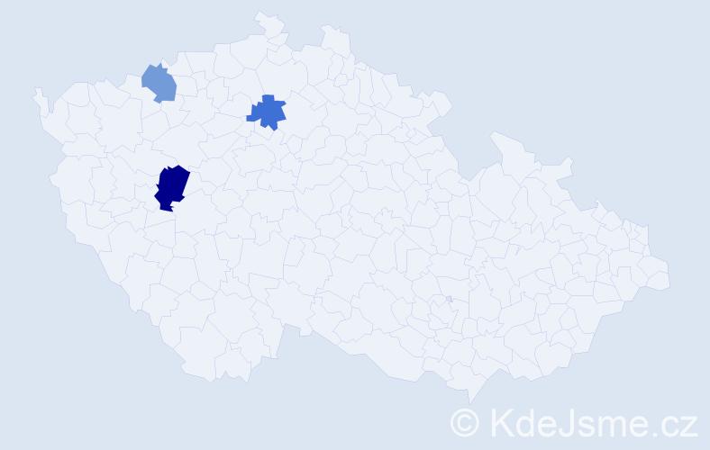 Příjmení: 'Drobička', počet výskytů 4 v celé ČR