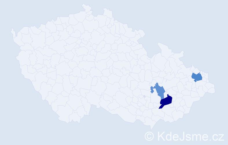 Příjmení: 'Drap', počet výskytů 6 v celé ČR