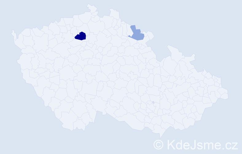 Příjmení: 'Klominská', počet výskytů 7 v celé ČR