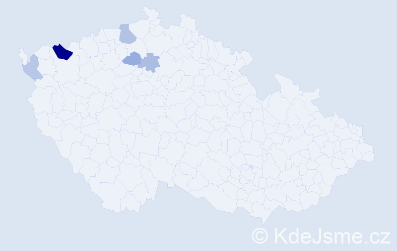 Příjmení: 'Javorčák', počet výskytů 10 v celé ČR
