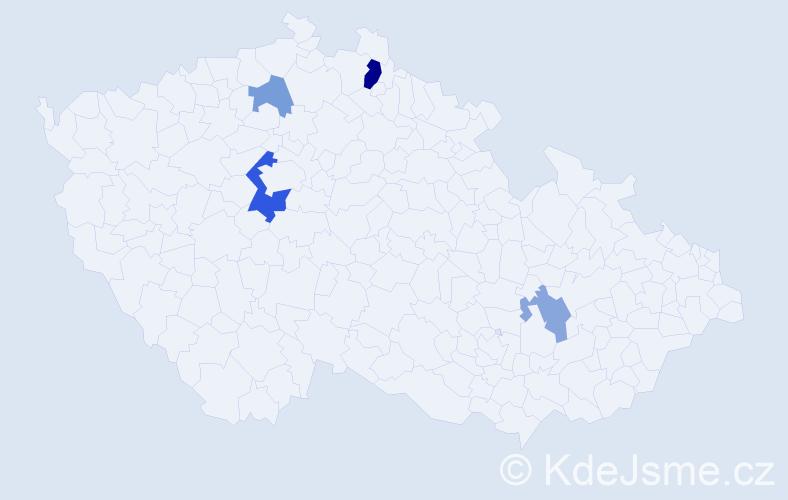 Příjmení: 'Juročková', počet výskytů 8 v celé ČR