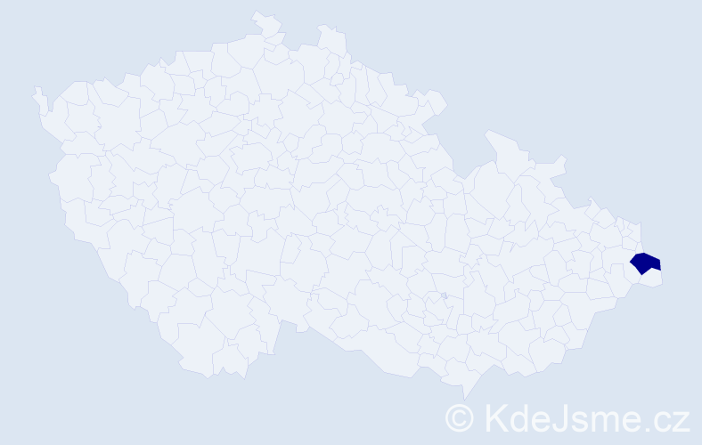 Příjmení: 'Cymerková', počet výskytů 1 v celé ČR