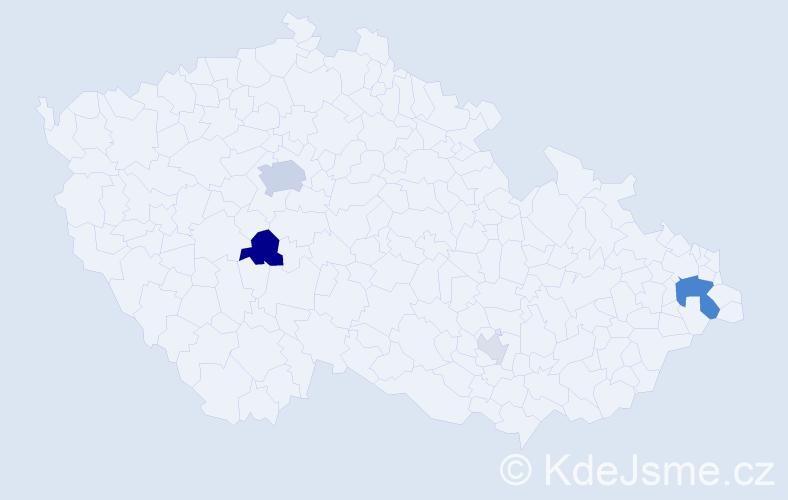 Příjmení: 'Bruncko', počet výskytů 12 v celé ČR