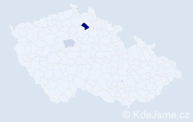 Příjmení: 'Ehleman', počet výskytů 4 v celé ČR
