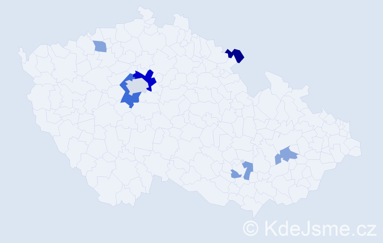 Příjmení: 'Farag', počet výskytů 13 v celé ČR