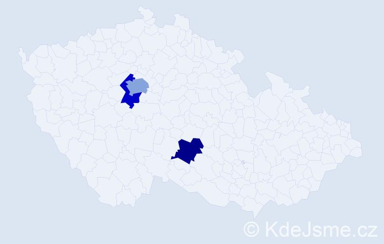 Příjmení: 'Gmuzdeková', počet výskytů 4 v celé ČR