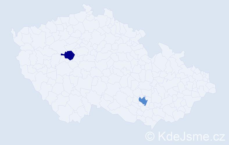 Příjmení: 'Flendrovská', počet výskytů 3 v celé ČR