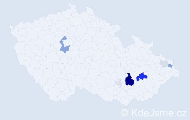 Příjmení: 'Grapl', počet výskytů 16 v celé ČR