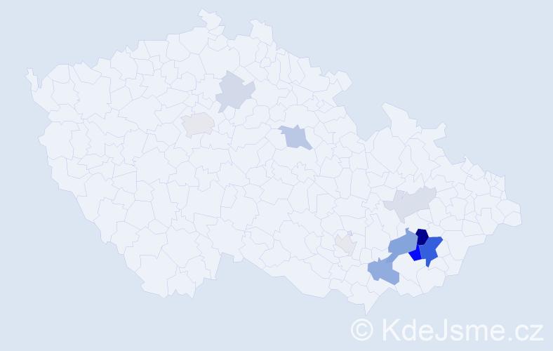 Příjmení: 'Kulendová', počet výskytů 31 v celé ČR