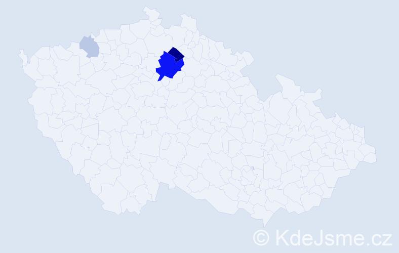 Příjmení: 'Kodrik', počet výskytů 11 v celé ČR