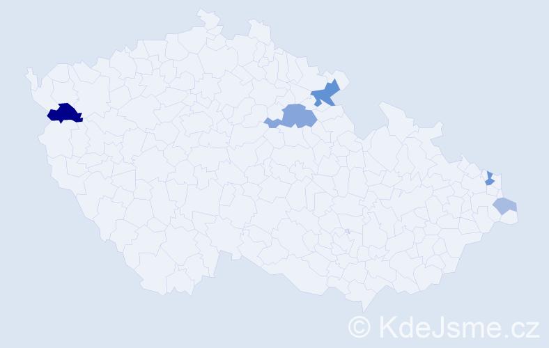 Příjmení: 'Barka', počet výskytů 12 v celé ČR