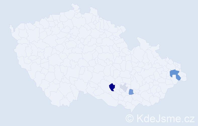 Příjmení: 'Cibuliaková', počet výskytů 10 v celé ČR