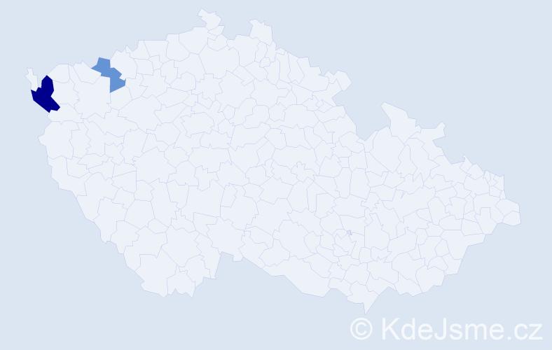 Příjmení: 'Butaki', počet výskytů 4 v celé ČR