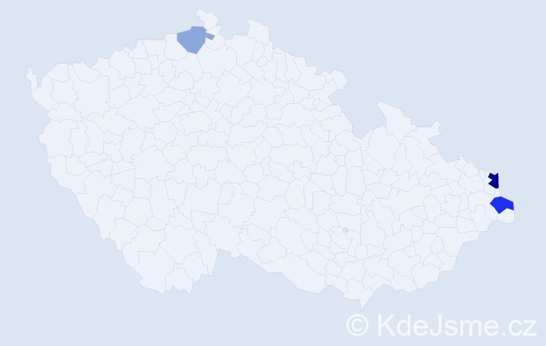 Příjmení: 'Ledwoňová', počet výskytů 16 v celé ČR
