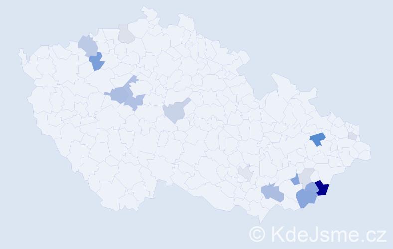 Příjmení: 'Belha', počet výskytů 31 v celé ČR