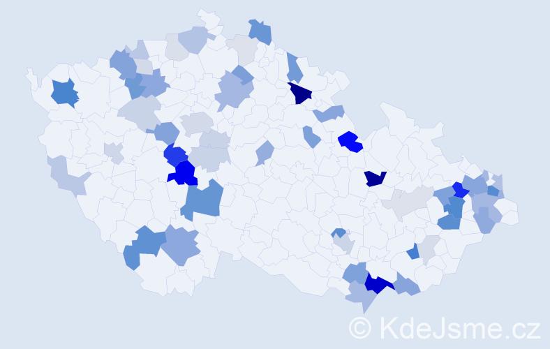 Příjmení: 'Chrenková', počet výskytů 157 v celé ČR