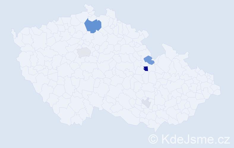 Příjmení: 'Karovičová', počet výskytů 9 v celé ČR