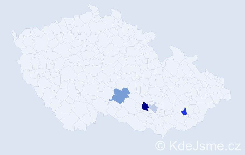 Příjmení: 'Hloh', počet výskytů 4 v celé ČR