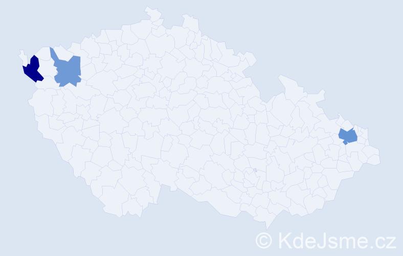 Příjmení: 'Harbist', počet výskytů 6 v celé ČR