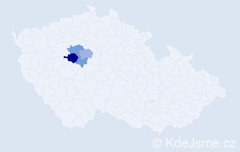 Příjmení: 'Holcátová', počet výskytů 8 v celé ČR