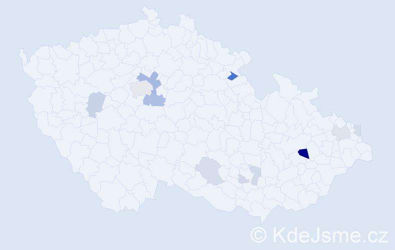 Příjmení: 'Drietomská', počet výskytů 21 v celé ČR