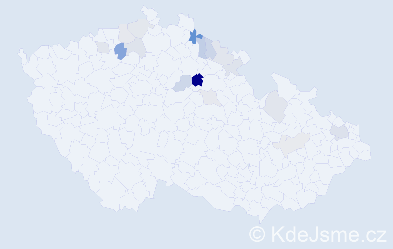 Příjmení: 'Geletičová', počet výskytů 31 v celé ČR