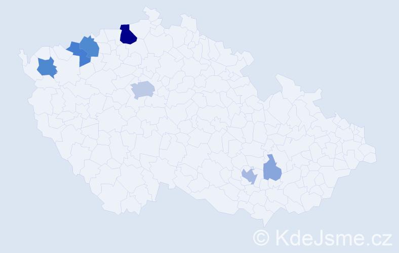Příjmení: 'Dengler', počet výskytů 26 v celé ČR