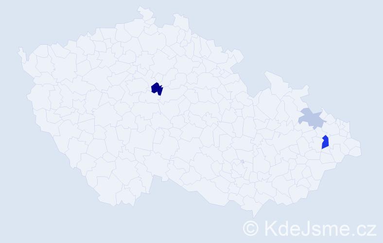 Příjmení: 'Heiniš', počet výskytů 6 v celé ČR