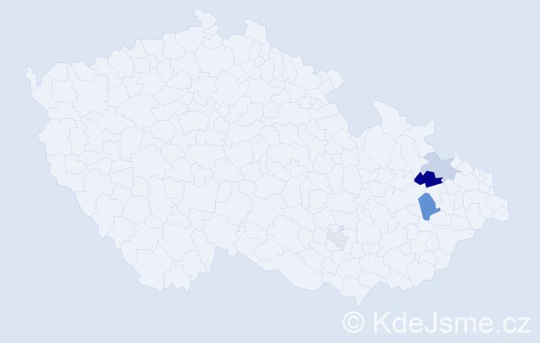 Příjmení: 'Ďalovská', počet výskytů 6 v celé ČR