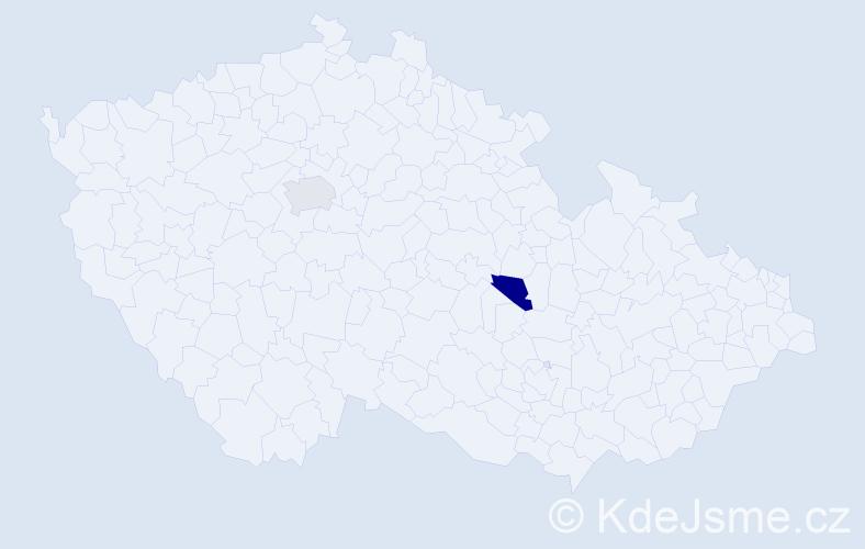 Příjmení: 'Braník', počet výskytů 2 v celé ČR