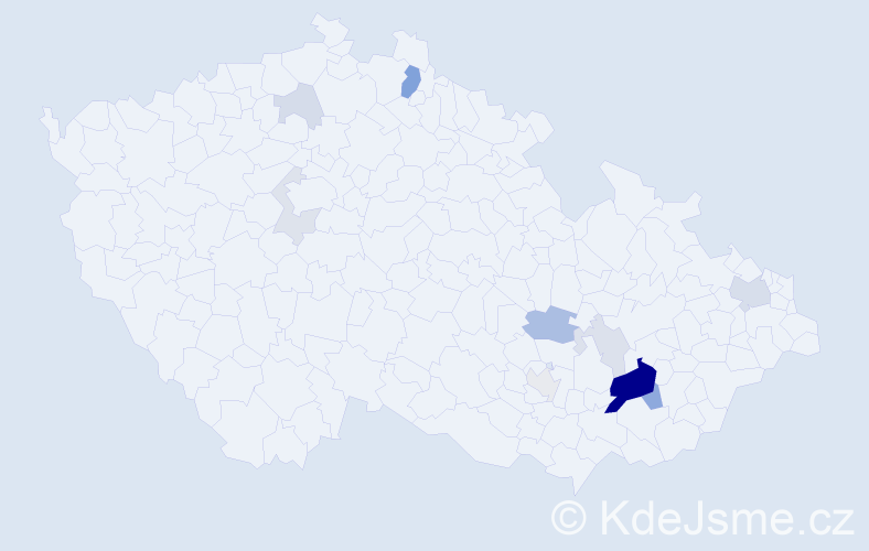 Příjmení: 'Jablunka', počet výskytů 34 v celé ČR