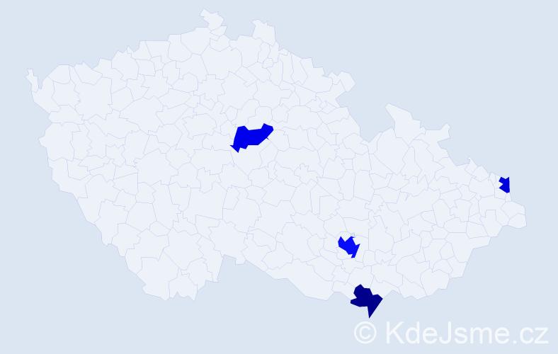 Příjmení: 'Barberová', počet výskytů 6 v celé ČR