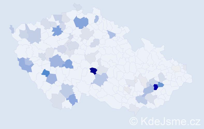 Příjmení: 'Ehrlich', počet výskytů 157 v celé ČR