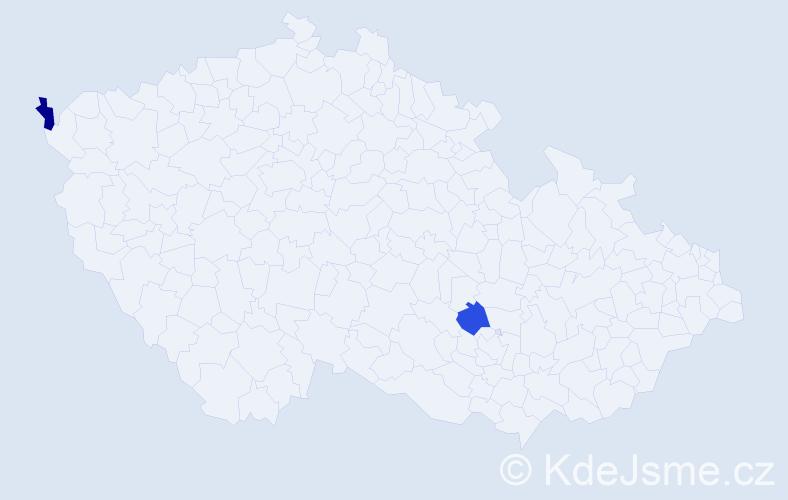 Příjmení: 'Geipel', počet výskytů 2 v celé ČR