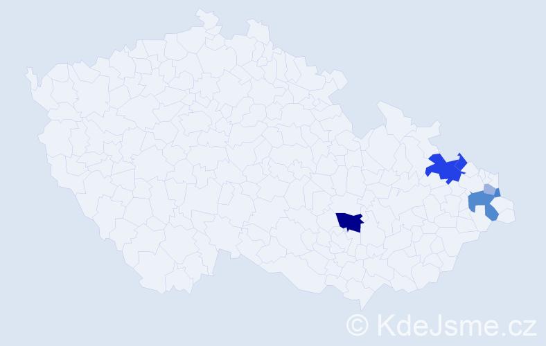 Příjmení: 'Legut', počet výskytů 14 v celé ČR