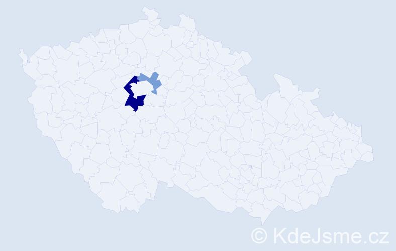 Příjmení: 'Boughattasová', počet výskytů 5 v celé ČR