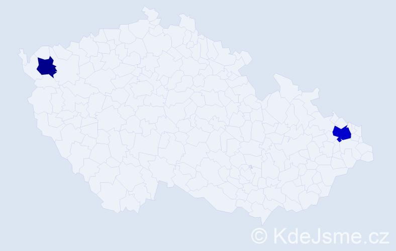 Příjmení: 'Hankovszki', počet výskytů 7 v celé ČR