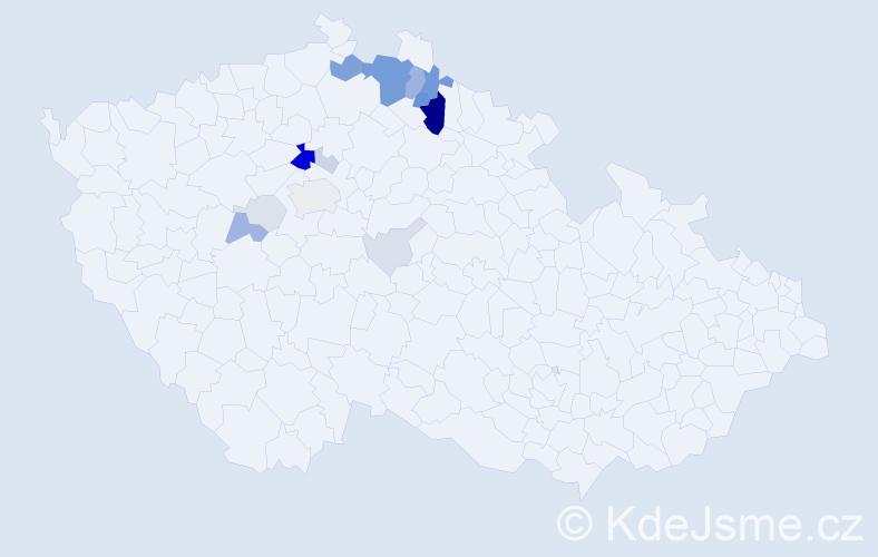 Příjmení: 'Holinová', počet výskytů 56 v celé ČR