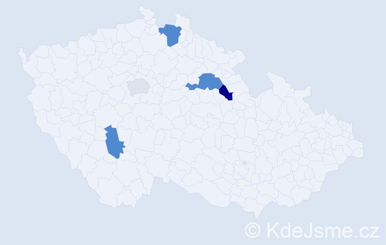 Příjmení: 'Alexiová', počet výskytů 7 v celé ČR