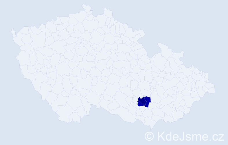 Příjmení: 'Čalubová', počet výskytů 5 v celé ČR