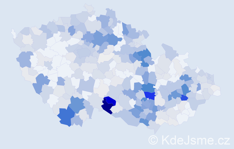 Příjmení: 'Jakubec', počet výskytů 1543 v celé ČR