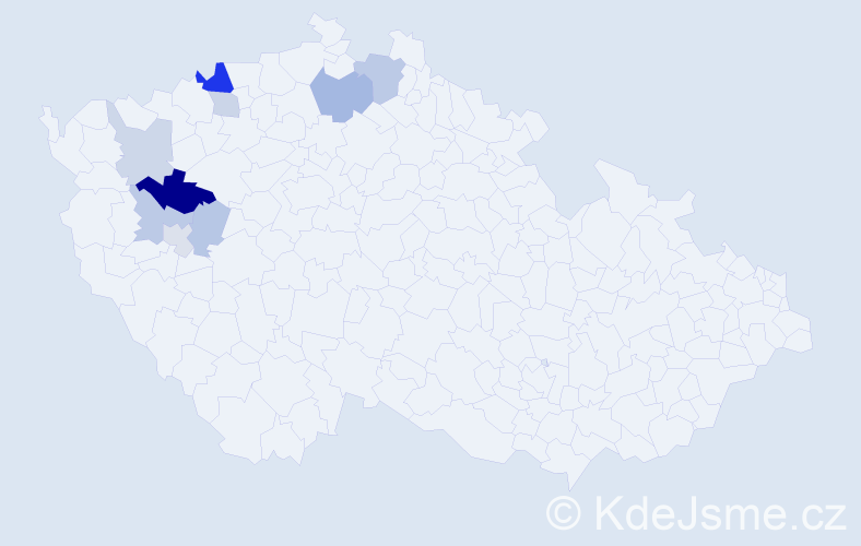 Příjmení: 'Aul', počet výskytů 18 v celé ČR