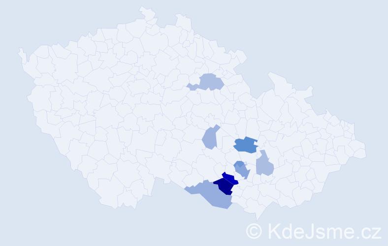 Příjmení: 'Geidl', počet výskytů 23 v celé ČR